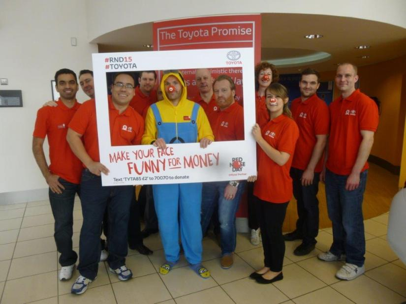 Red Nose Day At Jemca Toyota